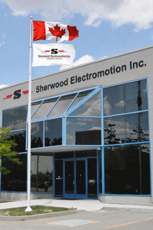 Sherwood Head Office Entrance | Sherwood Electromotion Inc.